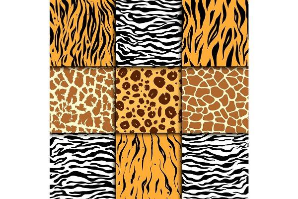 Seamless pattern with cheetah skin…