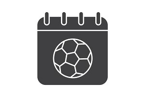 Soccer championship date glyph icon