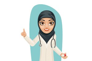 Cute Arab Doctor