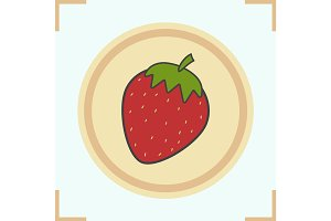 Strawberry color icon