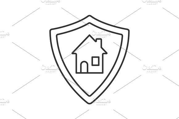 Real Estate Security Linear Icon