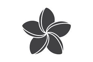 Spa salon plumeria flower glyph icon
