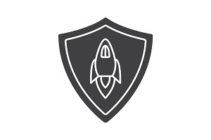 Startup projects protection glyph icon