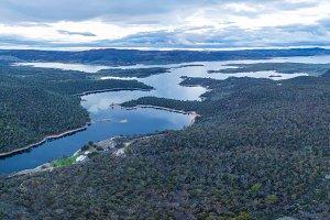 Panorama of Lake Jindabyne