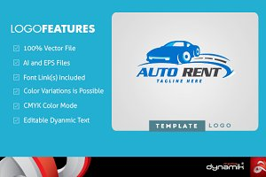 Auto Rent - Logo Template