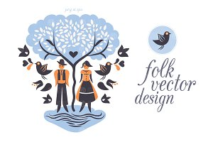 Folk vector design
