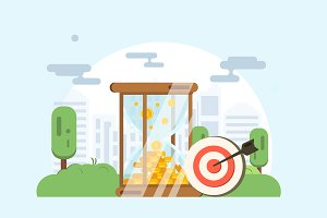 Time is money. Vector concept