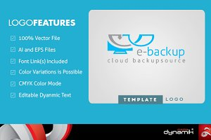 E-Backup - Template Logo