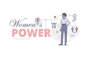 Women's power web banner