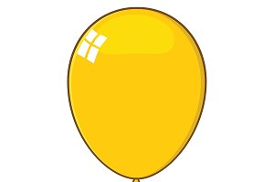 Cartoon Yellow Balloon