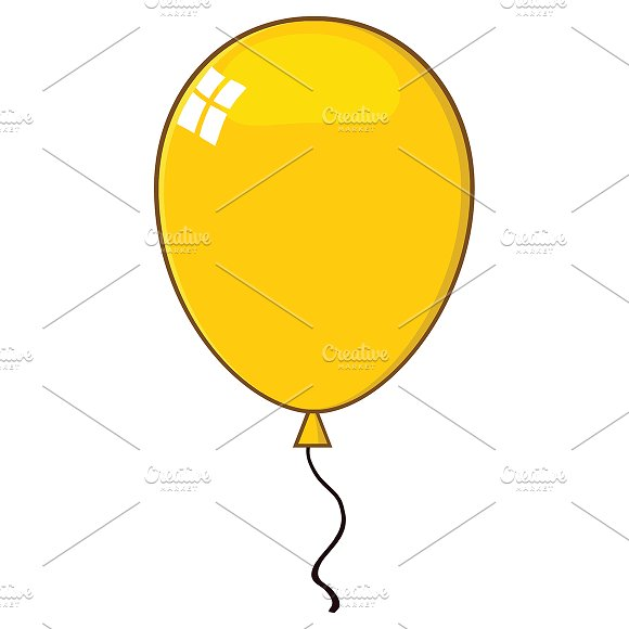 Cartoon Yellow Balloon