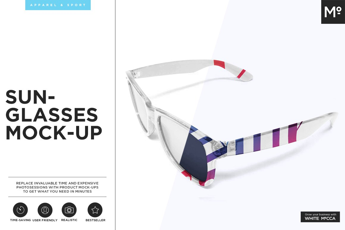 Sunglasses Mockup Product Mockups Creative Market - Ms word invoice template free download eyeglasses online store