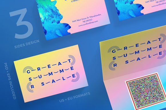 Business Cards Summer Sale
