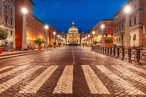 Saint Peter Cathedral in Rome, Vatican, Italy.