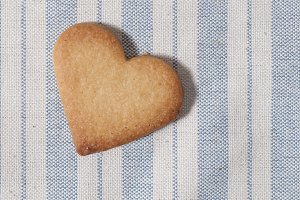 Butter cookie, heart shaped