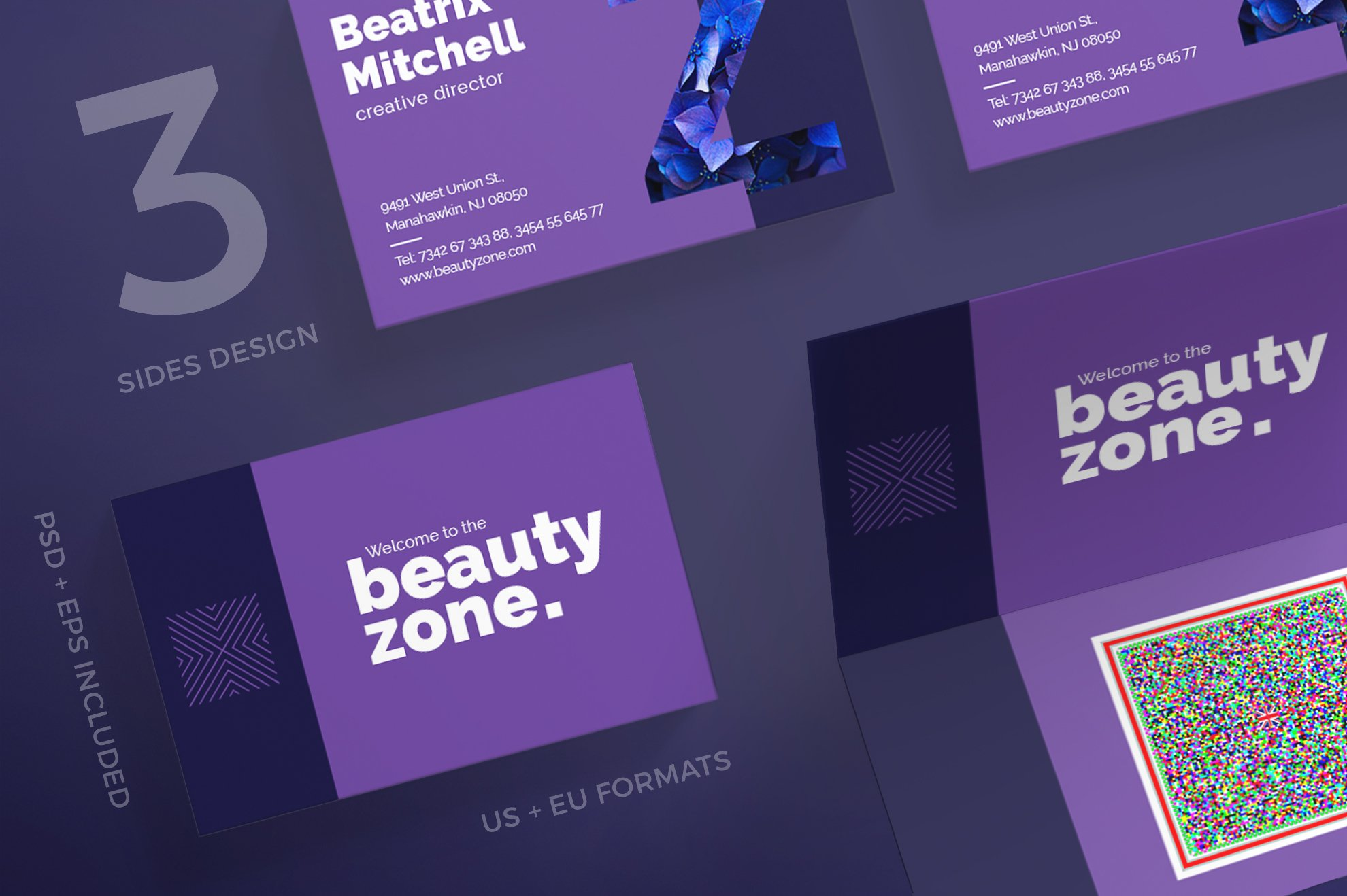 Business Cards | Beauty Zone ~ Business Card Templates ~ Creative Market
