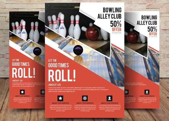 Bowling Flyer Template Flyer Templates Creative Market – Bowling Flyer Template