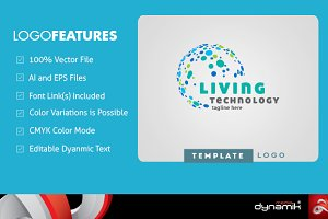 Living Technology - Logo Template