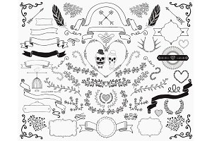 Hand-Drawn Doodle Design Elements