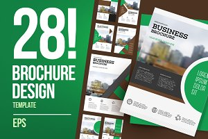 28 business brochure set