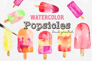 Summer Popsicles & Pattern Clip Art