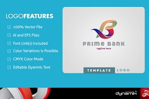 Prime Bank - Logo Template