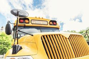 Yellow School Bus in Manhattan.