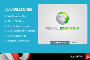 Real Energy - Logo Template