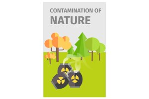 Contamination of Nature in Forest with Chemicals