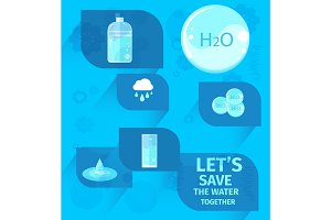 Lets Save Water Together Eco Agitation Placard