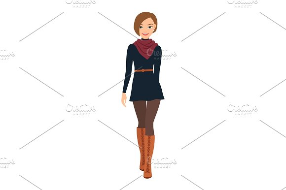 Girl In French Style Clothes