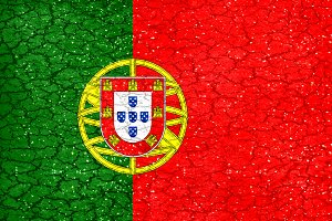 Portugal Grunge Style National Flag