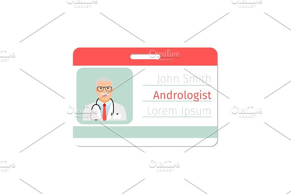Andrologist Medical Specialist Badge Template