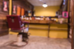 vintage blurred of barber chair