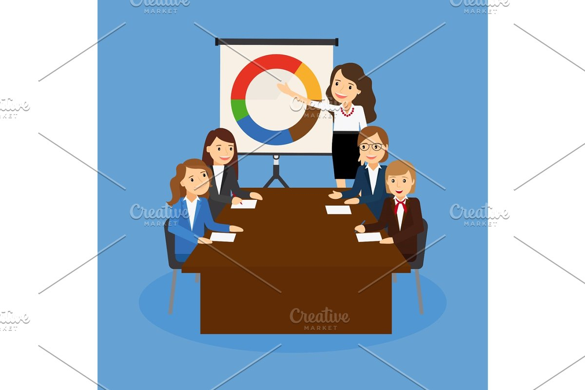 Office teamwork board chart graphic documents