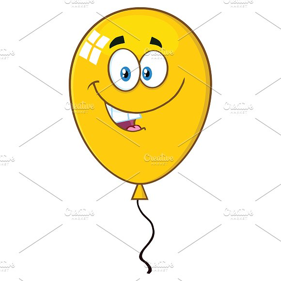 Smiling Yellow Balloon
