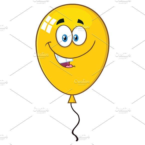 Smiling Yellow Balloon