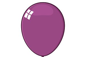 Cartoon Purple Balloon