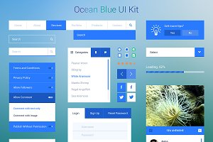 Ocean Blue UI Kit