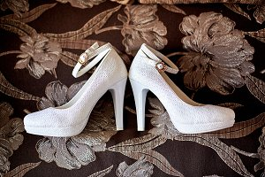 Luxurious white shoes