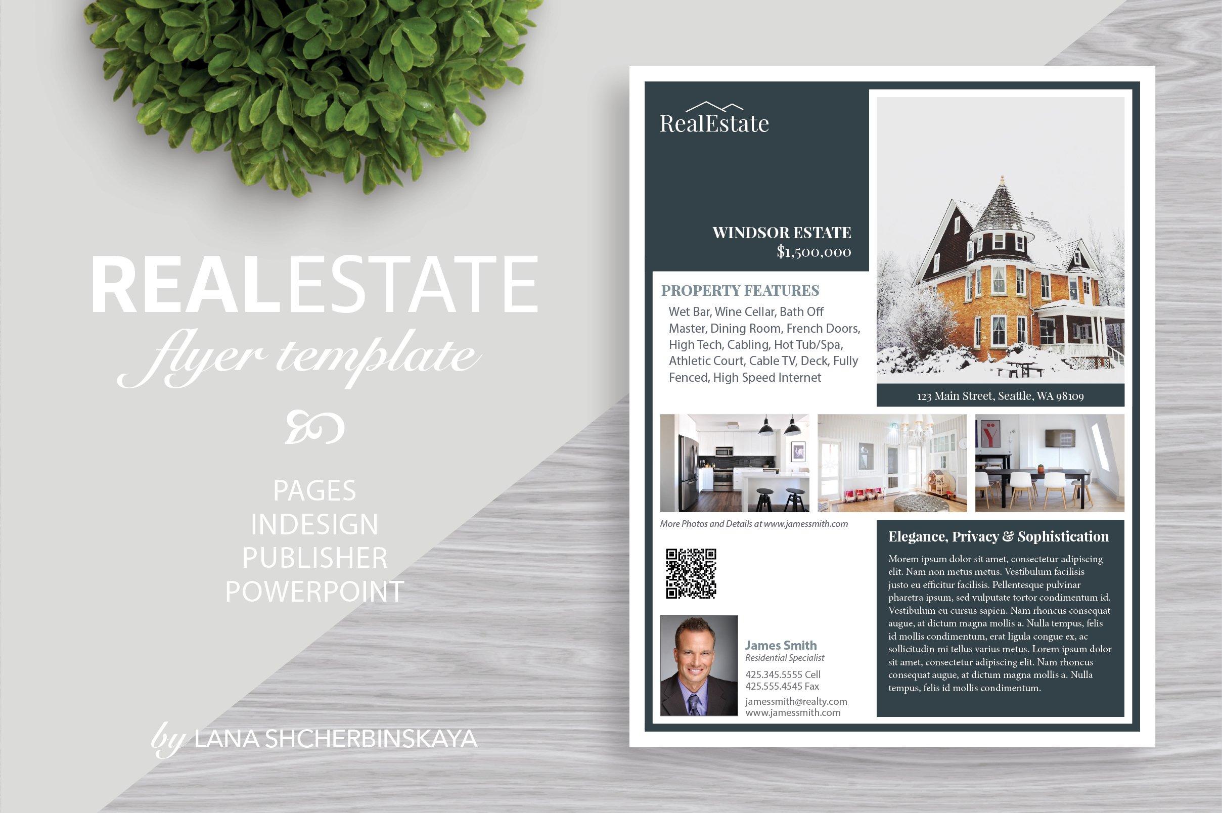 real estate flyer template no4 flyer templates creative market