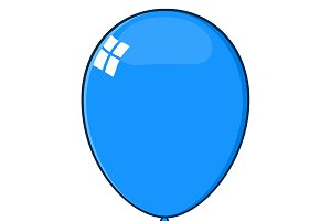 Cartoon Blue Balloon