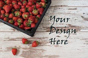 Pile of juicy ripe strawberries