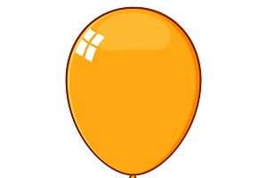 Cartoon Orange Balloon