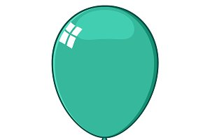 Cartoon Turquoise Balloon