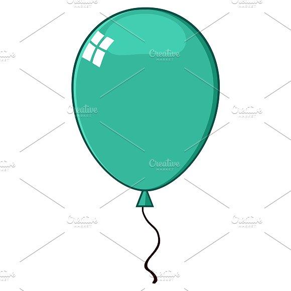 Cartoon Turquoise Balloon