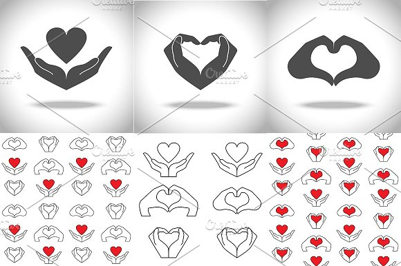 Love And Health Icons Set