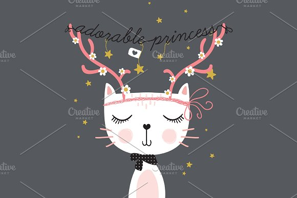 Cat Vector Jpg Cute Christmas