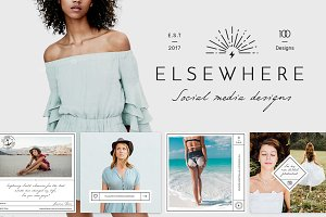 Elsewhere Vintage Social Media Pack