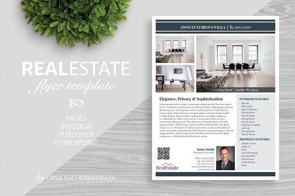 real estate flyer template no 8 flyer templates creative market